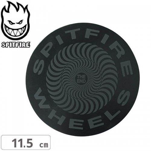 【スピットファイアー SPITFIRE スケボー ステッカー】CLASSIC BLACK OUT【11.5cmx11.5cm】NO107