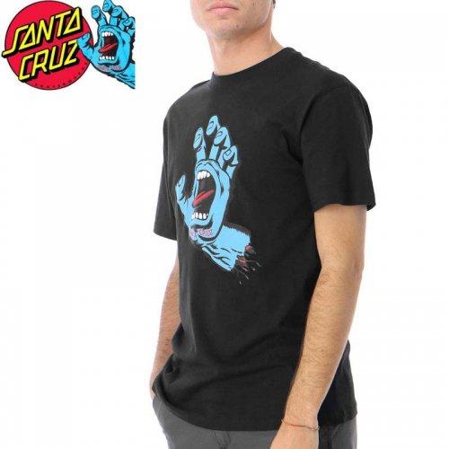 【サンタクルズ SANTA CRUZ スケボー Tシャツ】SCREAMING HAND PREMIUM S/S TEE【ブラック】スクリーミングハンド NO114