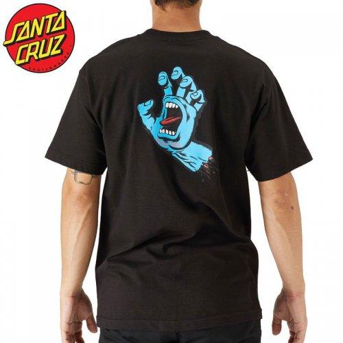 【サンタクルズ SANTA CRUZ スケボー Tシャツ】SCREAMING HAND S/S TEE【ブラック】スクリーミングハンド NO117