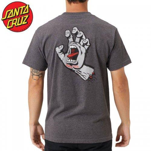 【サンタクルズ SANTA CRUZ スケボー Tシャツ】SCREAMING HAND S/S TEE【チャコールヘザー】スクリーミングハンド NO118