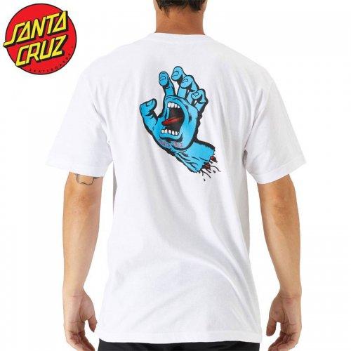 【サンタクルズ SANTA CRUZ スケボー Tシャツ】SCREAMING HAND S/S TEE【ホワイト】スクリーミングハンド NO119