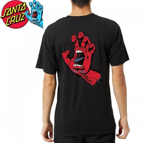 【サンタクルズ SANTA CRUZ スケボー Tシャツ】F.S.U. HAND S/S TEE【ブラック】スクリーミングハンド NO120