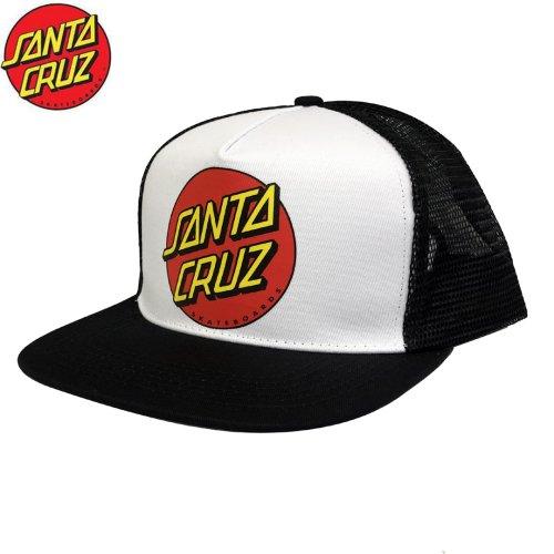 【サンタクルーズ SANTA CRUZ キャップ】CLASSIC DOT MESH TRUCKER HIGH PROF HAT【ホワイト】NO35