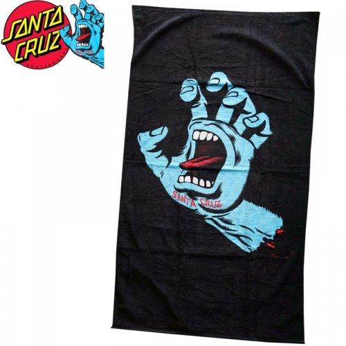 【サンタクルーズ SANTA CRUZ タオル】SCREAMING HAND TOWEL【ブラック】ビーチタオル スクリーミングハンド NO10