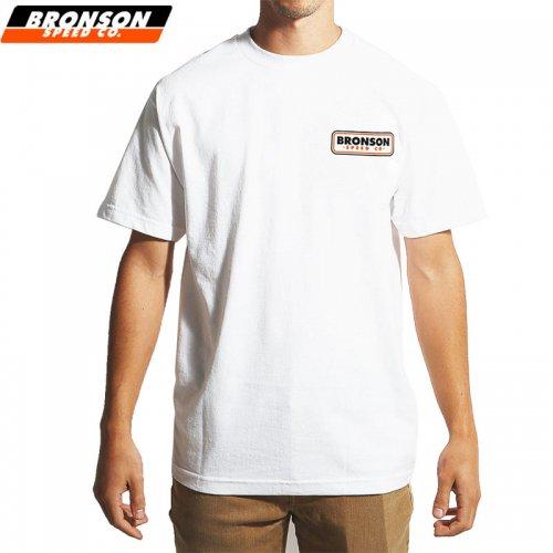 【BRONSON SPEED CO ブロンソン スケボー Tシャツ】PATCH TEE【ホワイト】NO1