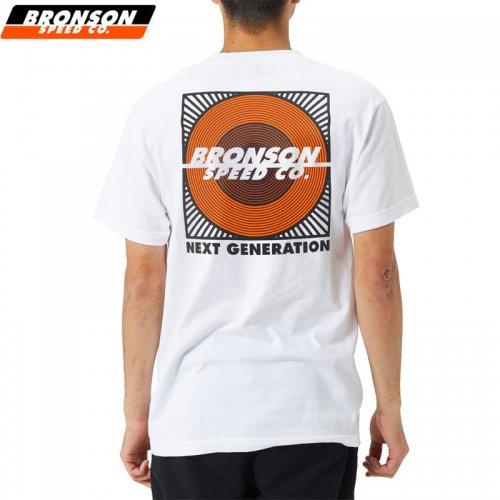【BRONSON SPEED CO ブロンソン スケボー Tシャツ】NEXT GENERATION TEE【ホワイト】NO2