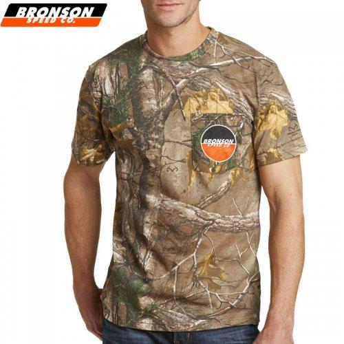 【BRONSON SPEED CO ブロンソン スケボー Tシャツ】LOGO SS POCKET TEE【迷彩】NO3