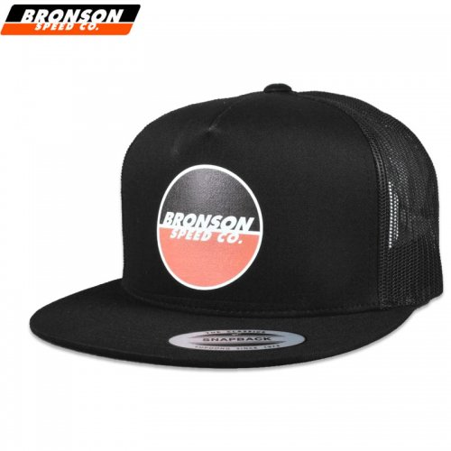 【BRONSON SPEED CO ブロンソン スケートボード キャップ】LOGO MESH TRUCKER HAT【ブラック】NO1