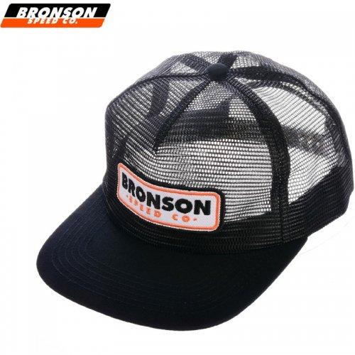 【BRONSON SPEED CO ブロンソン スケートボード キャップ】BSC PATCH MESH TRUCKER HAT【ブラック】NO2