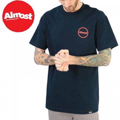【ALMOST オルモスト スケートボード Tシャツ】APEX TEE【ネイビー】NO41