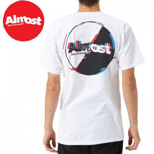 【ALMOST オルモスト スケートボード Tシャツ】TOP NOTCH TEE【ホワイト】NO42