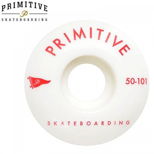 セール【PRIMITIVE プリミティブ スケボー ウィール】PENNANT ARCH 101A ホワイト/レッド【50mm】NO3
