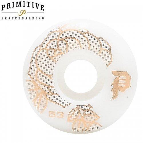セール【PRIMITIVE プリミティブ スケボー ウィール】ROSA TEAM WHEEL ホワイト/ゴールド【53mm】NO4