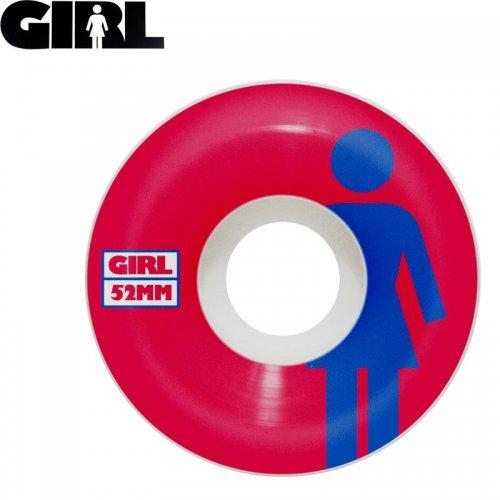 【GIRLSKATEBOARD ガールスケートボード ウィール】CLASSIC OG CONICAL ホワイトxレッド【52mm】NO36