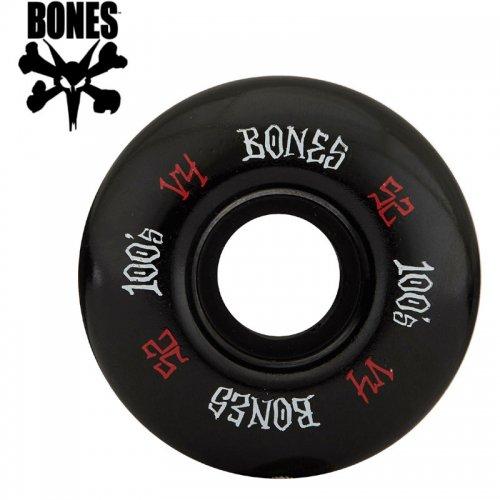 【ボーンズ BONES スケボー ウィール】100's #12 OG FORMULA V4 ブラック【52mm】NO185
