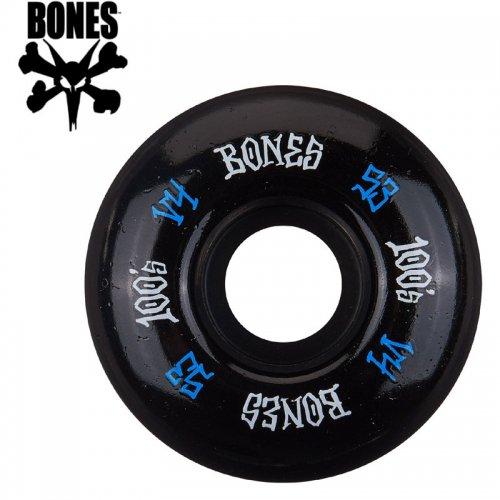 【ボーンズ BONES スケボー ウィール】100's #12 OG FORMULA V4 ブラック【53mm】NO186