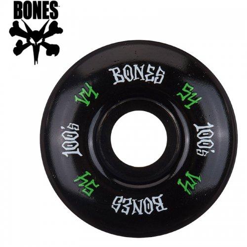 【ボーンズ BONES スケボー ウィール】100's #12 OG FORMULA V4 ブラック【54mm】NO187