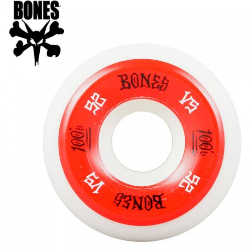 【ボーンズ BONES スケボー ウィール】100's #2 OG SIDECUT V5 ホワイト【52mm】NO188
