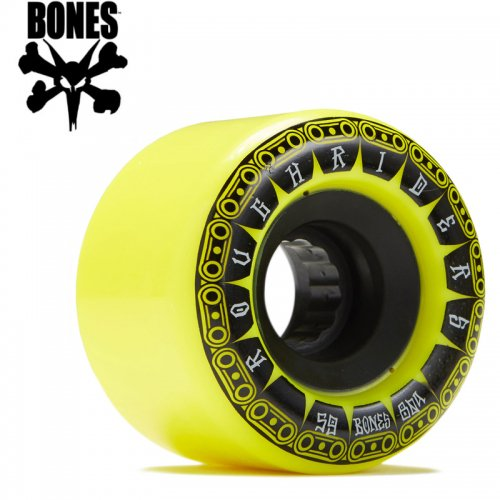 【ボーンズ BONES スケボー ソフトウィール】ATF ROUGH RIDER TANK WHEELS 80A イエロー【56mm】NO192