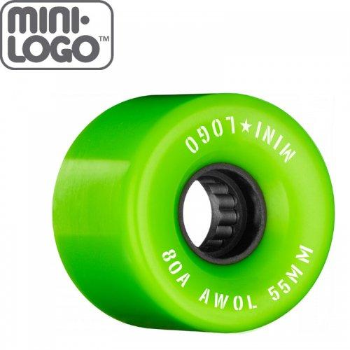 【MINI LOGO スケボー クルーザー ウィール】AWOL WHEELS 80A グリーン【55mm】NO81