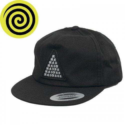 【MADNESS マッドネス スケボー キャップ】STRAIGHT BAR HAT【ブラック】NO1