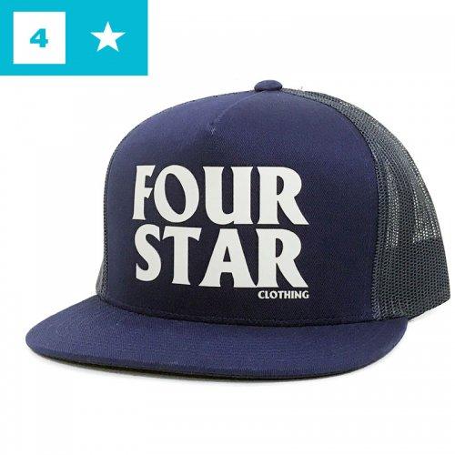 【フォースター FOUR STAR スケボー キャップ】FOUR HERO TRUCKER HAT【ネイビー】NO38