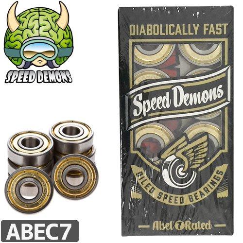 【SPEED DAMON スピードデーモン スケートボード ベアリング】OILED SPEED BEARING【ABEC7】NO3