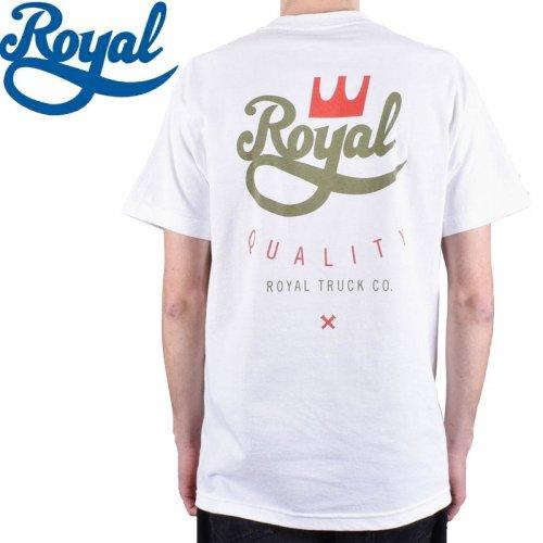 【ロイヤル ROYAL TRUCKS スケボー Tシャツ】QUALITY TEE【ホワイト】NO59
