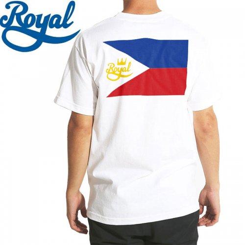 【ロイヤル ROYAL TRUCKS スケボー Tシャツ】フィリピーノ FILIPINO TEE【ホワイト】NO60