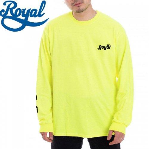 【ロイヤル ROYAL TRUCKS スケボー ロンT】OPEN L/S TEE【セーフティグリーン】NO5
