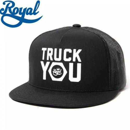 【ロイヤル ROYAL TRUCKS スケボー キャップ】TRUCK YOU MESH TRUCKER HAT【ブラック】NO13