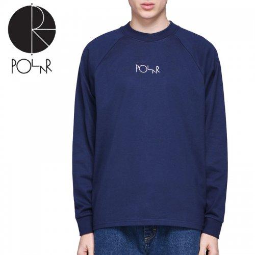 【POLAR ポーラー スケボー ロング Tシャツ】DEFAULT L/S TEE【ネイビー】NO15