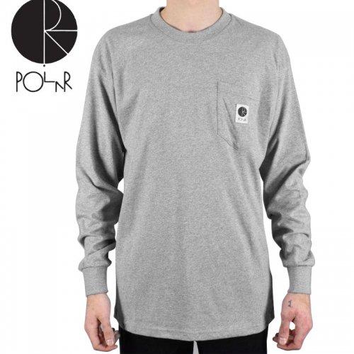 【POLAR ポーラー スケボー ロング Tシャツ】POCKET L/S TEE【ヘザーグレー】NO16