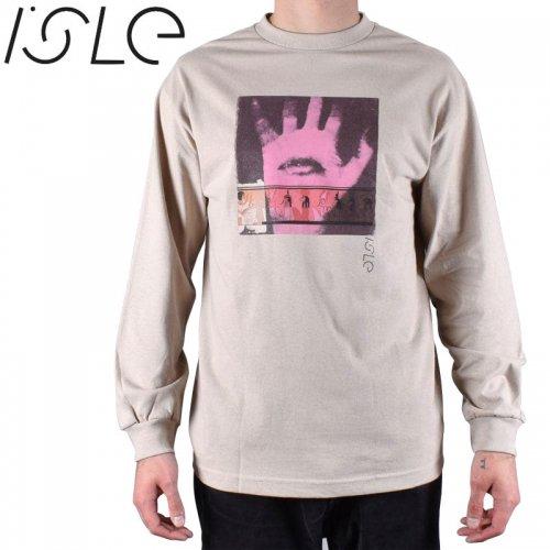 【ISLE  スケボー ロング Tシャツ】AMULET L/S TEE【タン】NO4