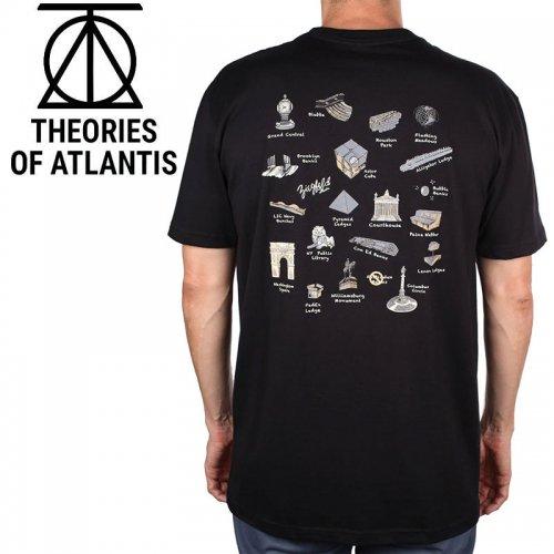【スケボー Tシャツ THEORIES セオリーズ】NYC SKATE TOURTIST TEE【ブラック】NO9
