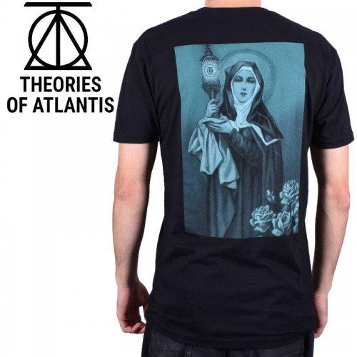 【スケボー Tシャツ THEORIES セオリーズ】NEW RELIGION TEE TEE【ブラック】NO10