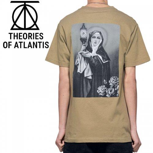 【スケボー Tシャツ THEORIES セオリーズ】NEW RELIGION HEAVY DUTY TEE【サファリグリーン】NO11
