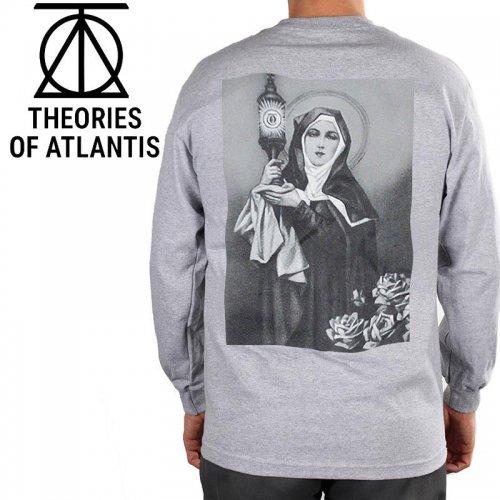 【THEORIES セオリーズ スケボー ロング Tシャツ】NEW RELIGION L/S TEE【ヘザーグレー】NO4