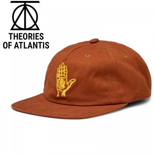 【THEORIES セオリーズ スケボー キャップ】19FA HAND OF THEORIES STRAPBACK CAP【シナモン/ゴールド】NO7