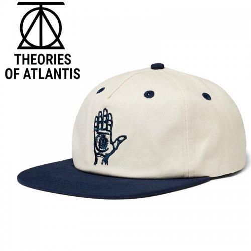 【THEORIES セオリーズ スケボー キャップ】19FA HAND OF THEORIES STRAPBACK CAP【クリーム/ネイビー】NO8