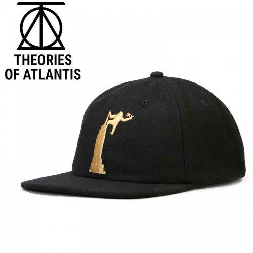 【THEORIES セオリーズ スケボー キャップ】EMPIRE STRAPBACK CAP【ブラック】NO10