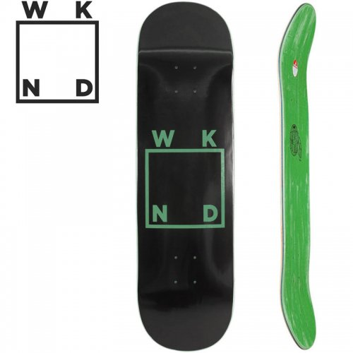 【ウィークエンド WKND スケボー デッキ】BLACK LOGO DECK[7.75インチ]NO30