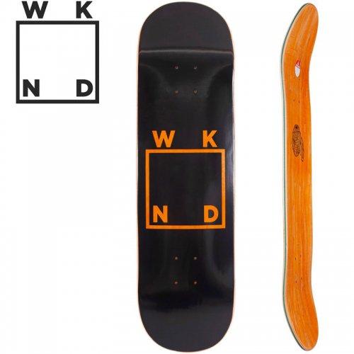 【ウィークエンド WKND スケボー デッキ】BLACK LOGO DECK オレンジ[7.75インチ]NO31
