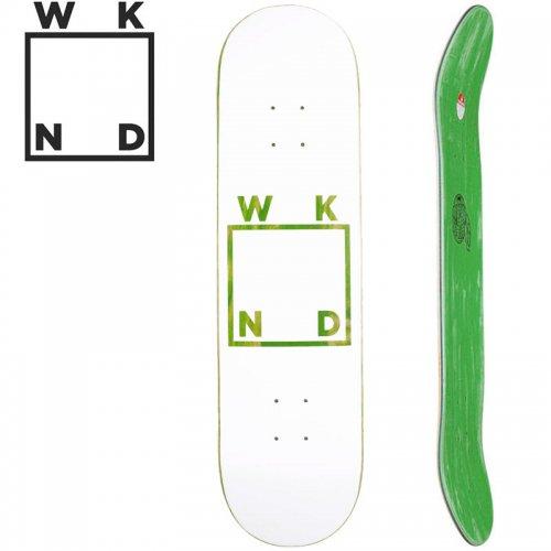 【ウィークエンド WKND スケボー デッキ】WHITE LOGO DECK グリーン[8.0インチ]NO35