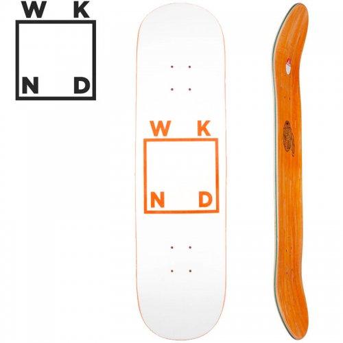 【ウィークエンド WKND スケボー デッキ】WHITE LOGO DECK オレンジ[8.0インチ][8.25インチ]NO37