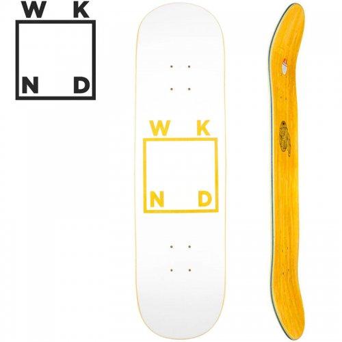 【ウィークエンド WKND スケボー デッキ】WHITE LOGO DECK イエロー[8.0インチ][8.25インチ]NO38