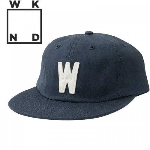 【ウィークエンド WKND スケボー キャップ CAP】W STRAPBACK HAT【ネイビー】NO7