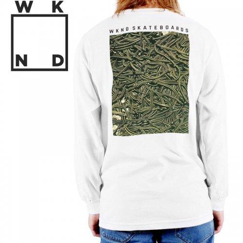 【ウィークエンド WKND スケボー ロング Tシャツ】SNAKES LONG SLEEVE TEE【ホワイト】NO3