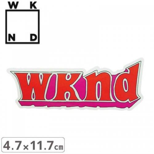 【ウィークエンド WKND スケボー ステッカー】GOOD TIME STICKER【4.7cm x 11.7cm】NO5