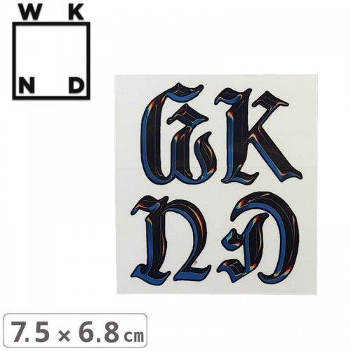 【ウィークエンド WKND スケボー ステッカー】CHROME STICKER【7.5cm x 6.8cm】NO6